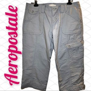 Aeropostale Cotton Cropped Cargo Pants 11/12